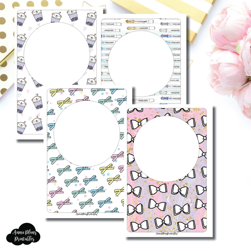 Personal Wide Rings Size | Blank Printable Covers for Inserts ©