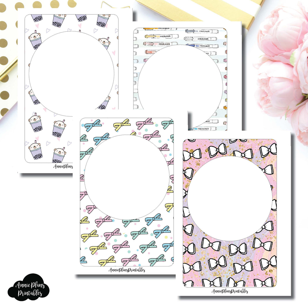 A6 Rings Size | Blank Printable Covers for Inserts ©
