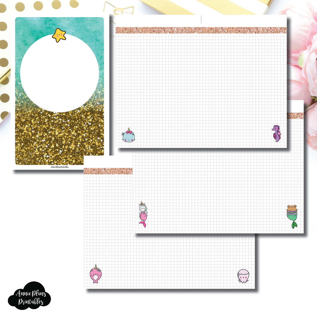 Half Letter Rings Size | MommyLhey Designs Collaboration Plain Grid Printable Insert ©