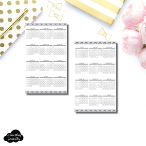 B6 Slim TN Size | 2018 - 2019 Academic Year at a Glance Single Page Printable Insert