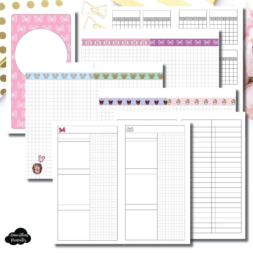 HWeeks Wide Size | Magical Plans Collaboration Printable Insert ©