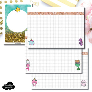 A6 TN Size | MommyLhey Designs Collaboration Plain Grid Printable Insert ©