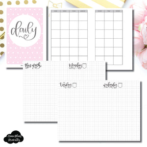 Personal Wide Rings Size | SeeAmyDraw Undated Daily Grid Collaboration Printable Insert ©