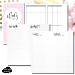 Standard TN Size | SeeAmyDraw Undated Daily Grid Collaboration Printable Insert ©