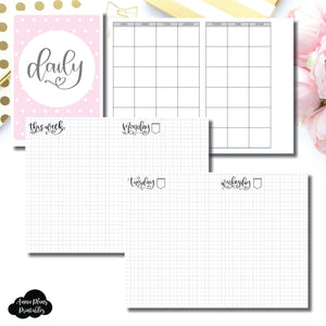 photo relating to Free Printable B6 Inserts named B6 TN Sizing SeeAmyDraw Undated Each day Grid Collaboration Printable Incorporate ©