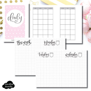 Pocket Rings Size | SeeAmyDraw Undated Daily Grid Collaboration Printable Insert ©