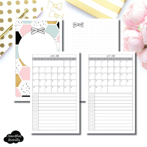 B6 Slim TN Size | JUNE 2018 - JULY 2019 Single Page Monthly Printable Insert ©