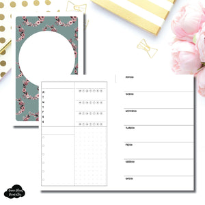 Mini HP Size | Undated Horizontal Week on 2 Page Layout Printable Insert ©