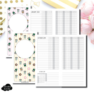 HWeeks Wide Size | OCT 2019 - DEC 2020 Dated Tracker Printable Insert ©