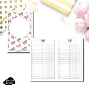 Pocket TN Size | Fox & Pip Collaboration: List + Grid Column Printable Insert ©