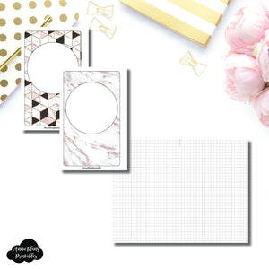 Mini HP Size | Plain GRID Printable Inserts ©