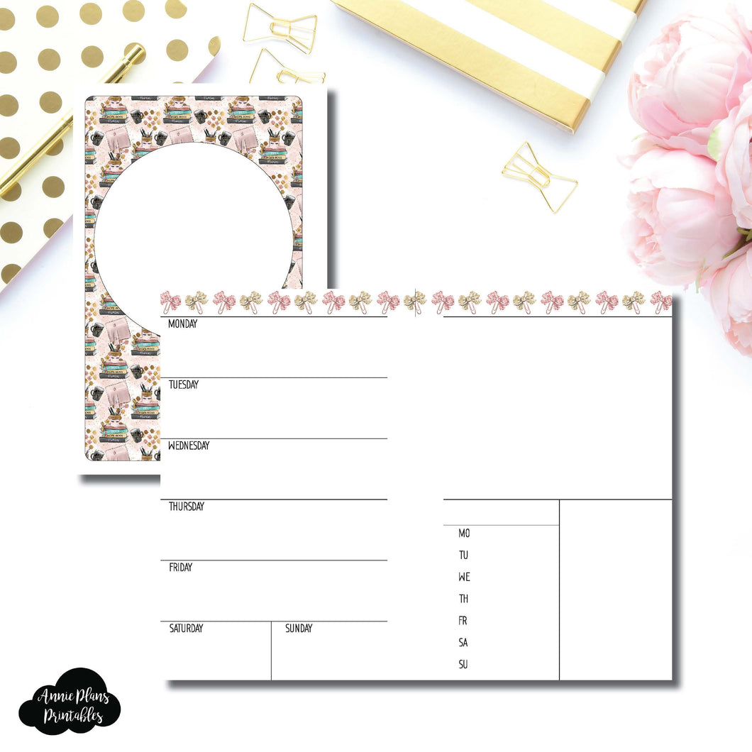 Mini HP Size | Undated Week on 2 Page Collaboration Printable Insert ©