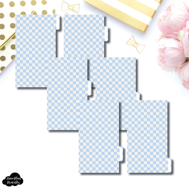 Personal Ring Dividers | Luxe Blue 6 Side Tab Printable Dividers
