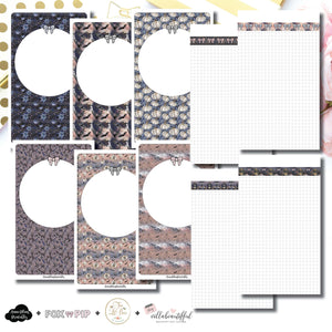 Cahier TN Size | Blank Covers + Undated Grid Collaboration Printable Insert ©