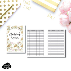 Personal Wide Rings Size | CHECKBOOK REGISTER Printable Insert ©