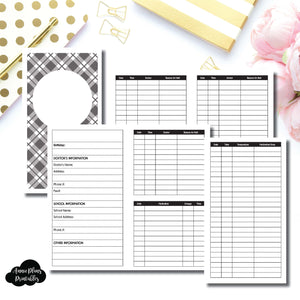 Personal TN Size | KIDS Information Printable Insert ©