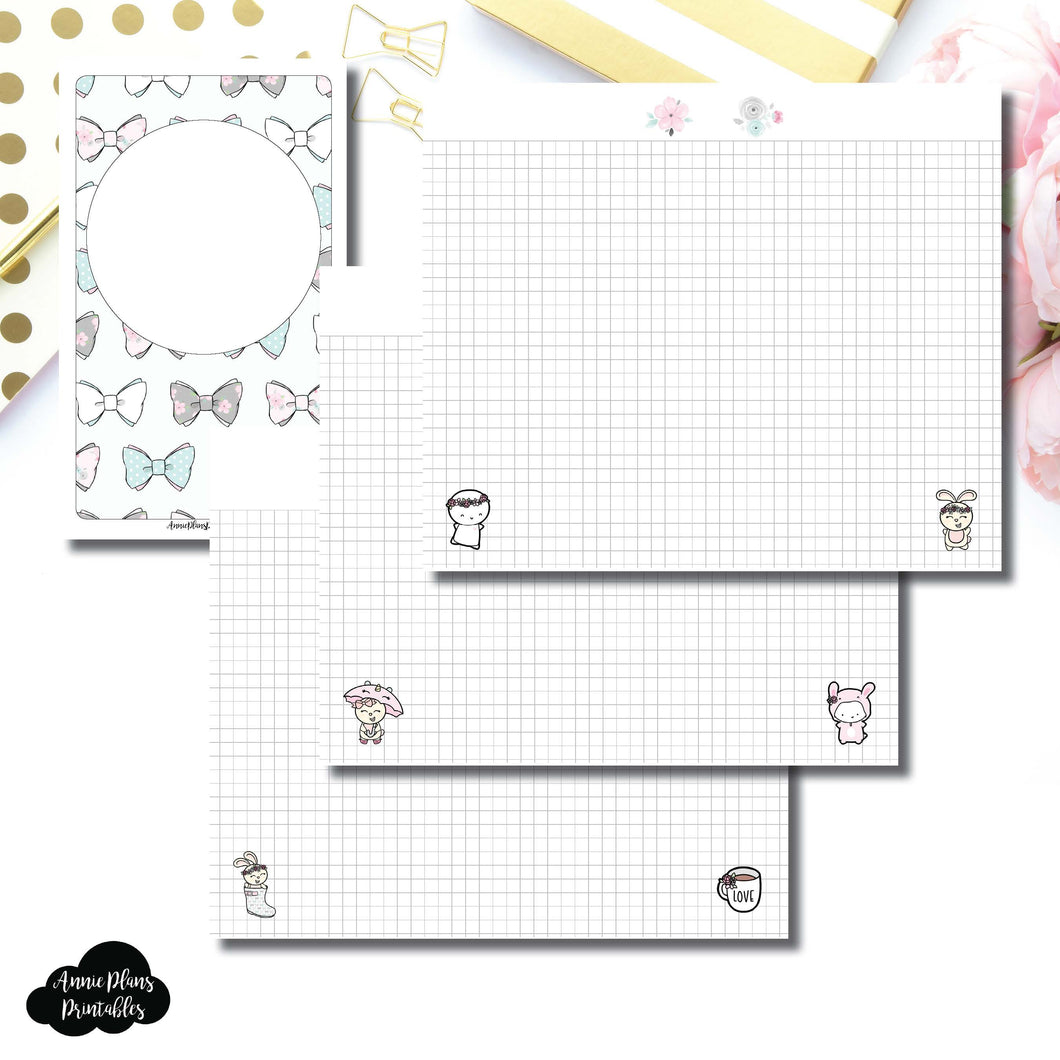 B6 Slim TN Size | theCoffeeMonsterzco & Sparkly Paper Co Collab Grid Printable Insert ©