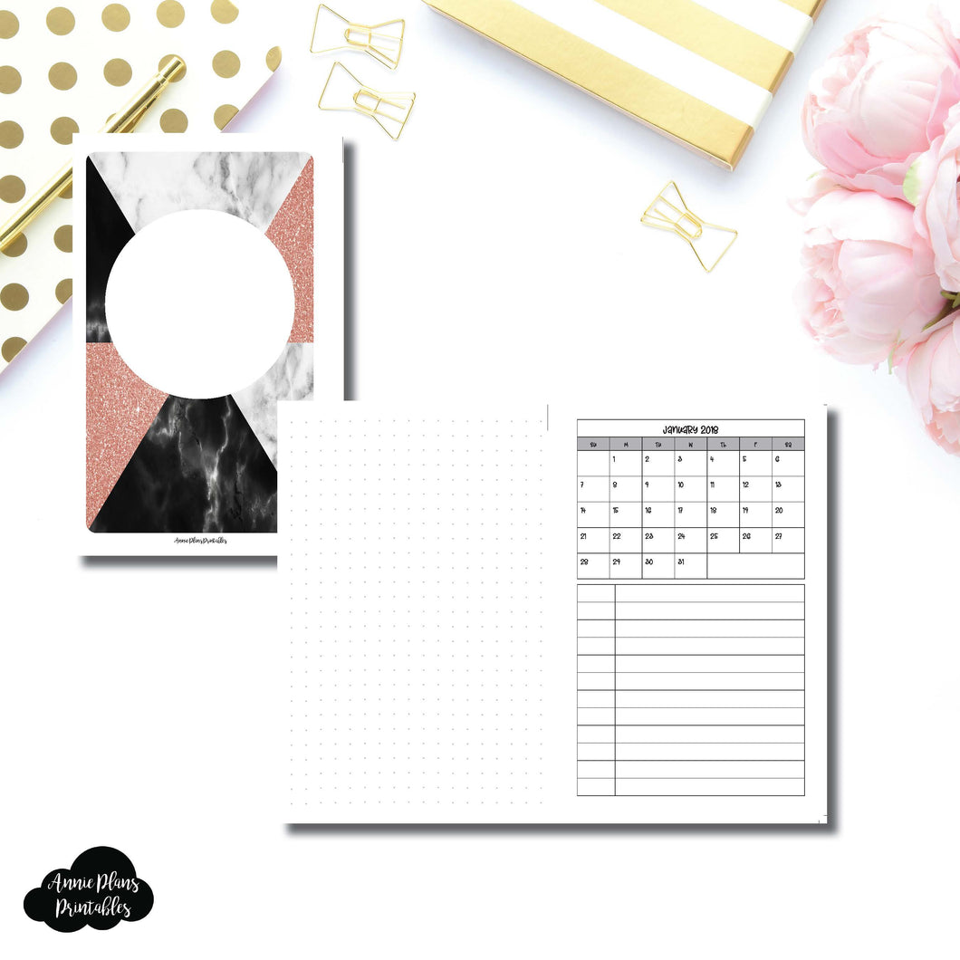 Mini HP Size | Monthly Dated Important Dates with Dot Grid Printable Insert ©