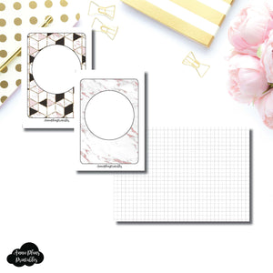 Passport TN Size | Plain GRID Printable Inserts ©