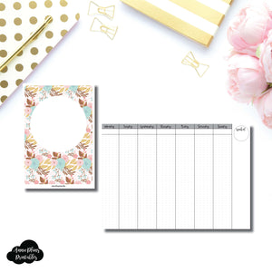 B6 TN Size | Vertical Week on 2 Pages Printable Insert for Travelers Notebooks ©