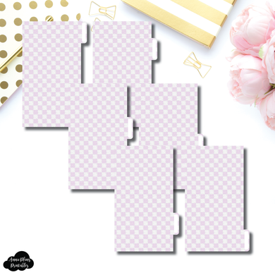 Personal Ring Dividers | Luxe Lilac 6 Side Tab Printable Dividers