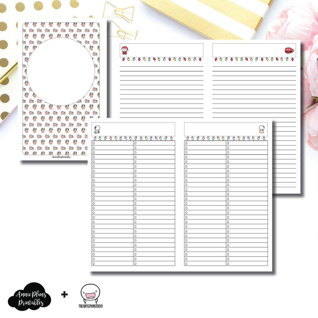 Cahier TN Size | TheCoffeeMonsterzCo Collaboration Holiday Notes & Lists Printable Insert ©