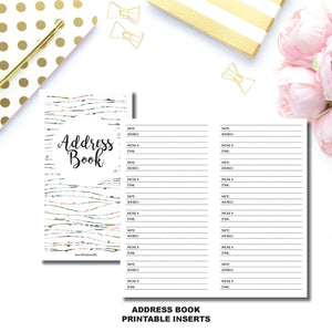 Personal TN SIZE | Address Book Printable Insert ©