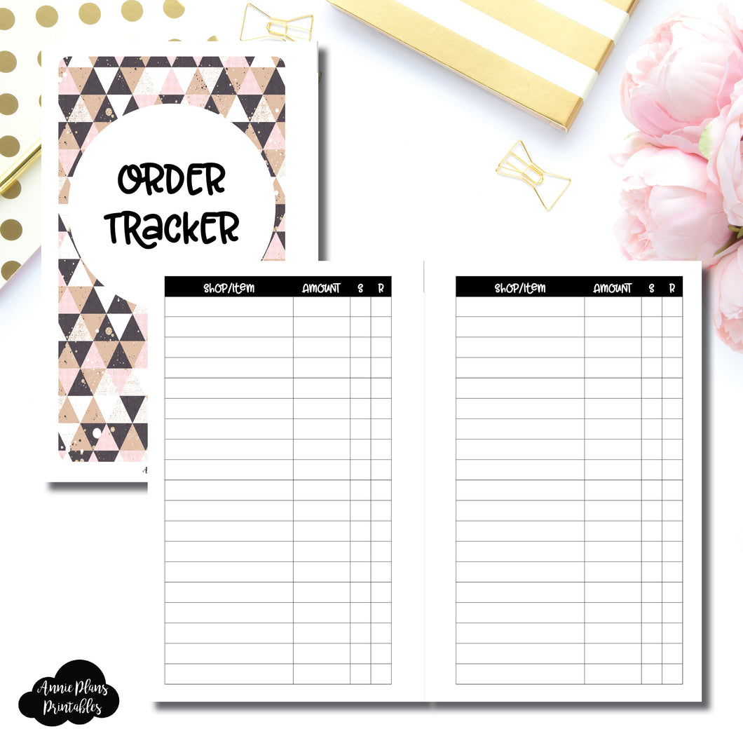 FC Rings SIZE | Basic Order Tracker Printable Insert ©