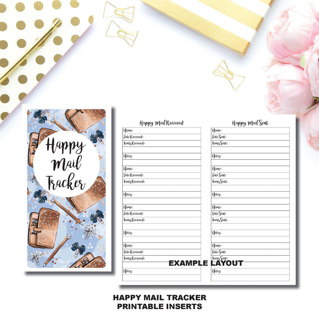 Standard TN Size | Happy Mail Tracker Printable Insert ©