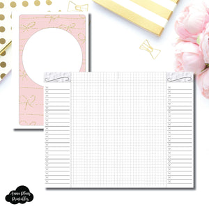 Half Letter Rings Size | List + Grid Collaboration Printable Insert