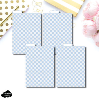 A6 Ring Dividers | Luxe Blue 4 Top Tab Printable Dividers