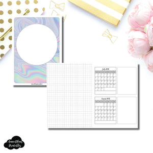 B6 TN Size | 18 Month (July 2018 - December 2019) Forward Planning Printable Insert ©