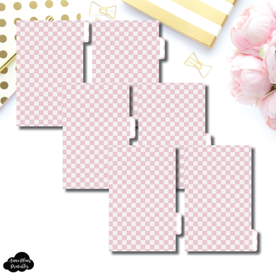FC Ring Dividers | Luxe Pink 6 Side Tab Printable Dividers
