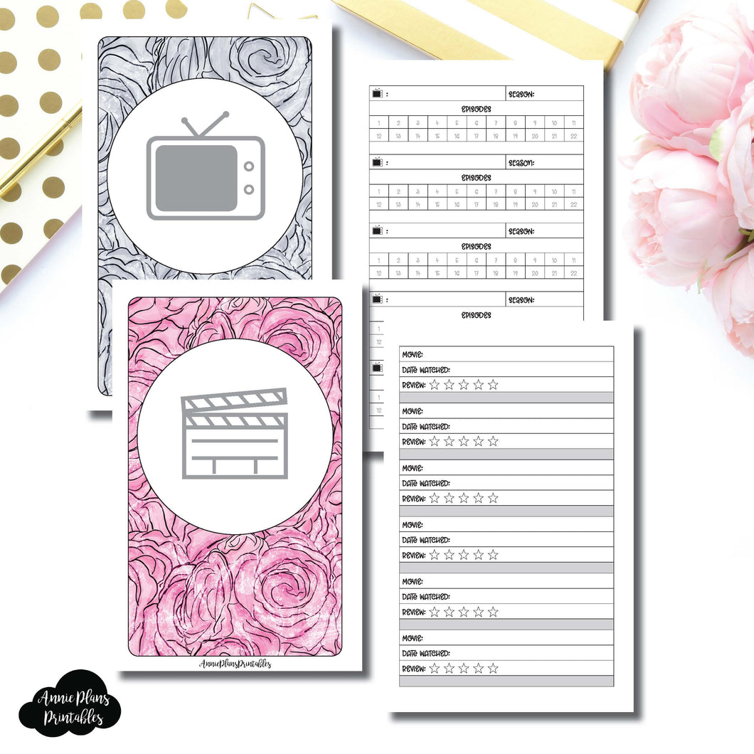 Mini HP Size | TV & Movie Tracker Bundle Printable Insert ©