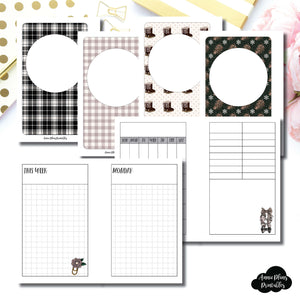 Pocket Rings Size | COZY Undated Daily Printable Insert ©