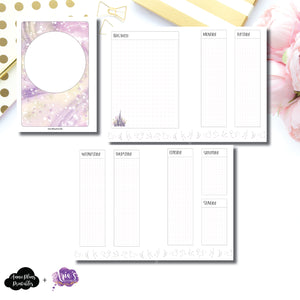 HWeeks Wide Size | Arias Daydream Midnight Magic Undated Vertical Layout Printable Insert ©
