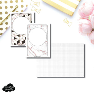 Personal Wide Rings Size | Plain GRID Printable Inserts ©