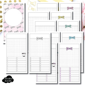 Personal TN Size | Undated Day on a Page or Project HappieScrappie Collaboration Printable Insert ©