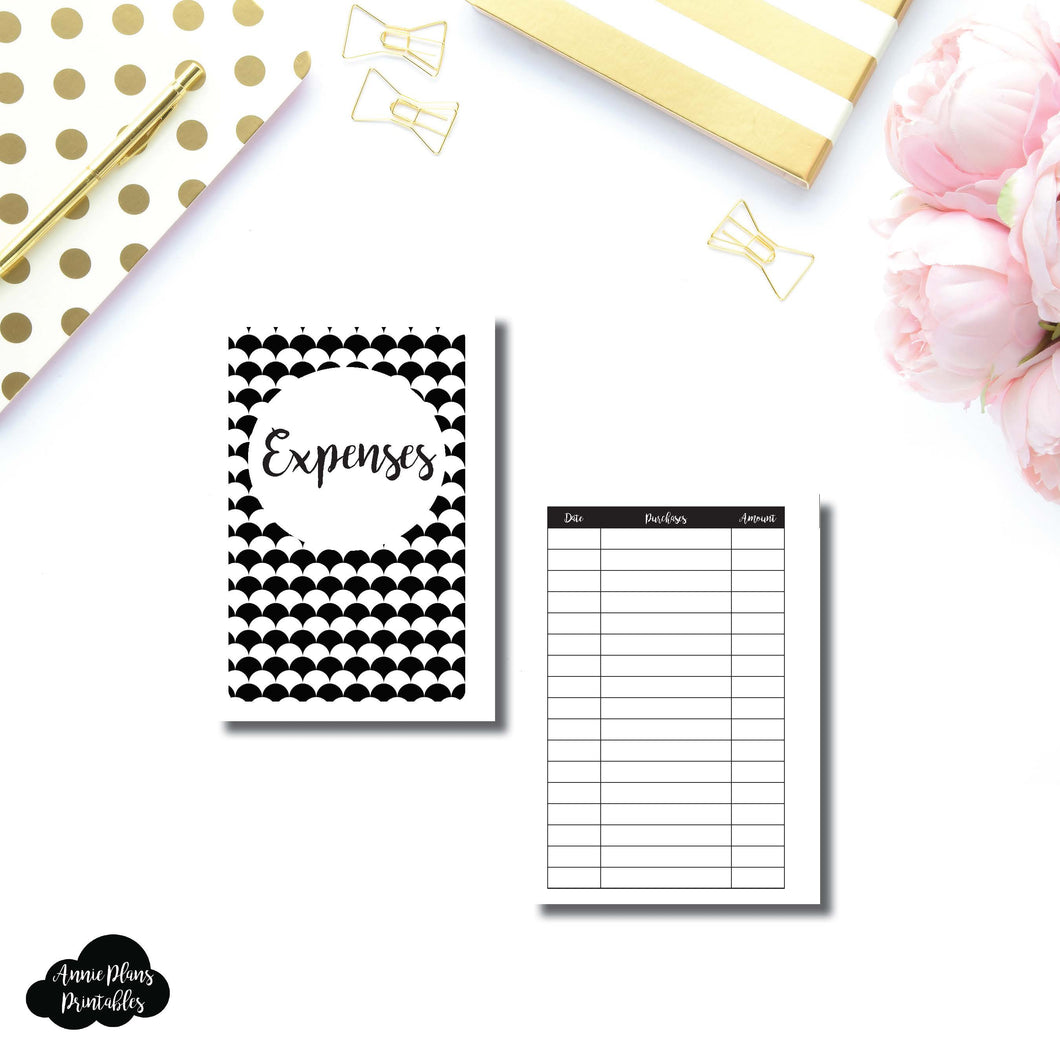 A6 Rings Size | Basic Expense Tracker Printable Insert ©