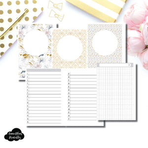 Personal Wide Rings Size  | UNDATED DAILY GRID Printable Insert ©