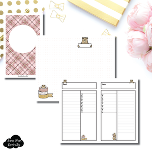 Mini HP SIZE | Grumpy Bear Daily Collab Printable Insert ©