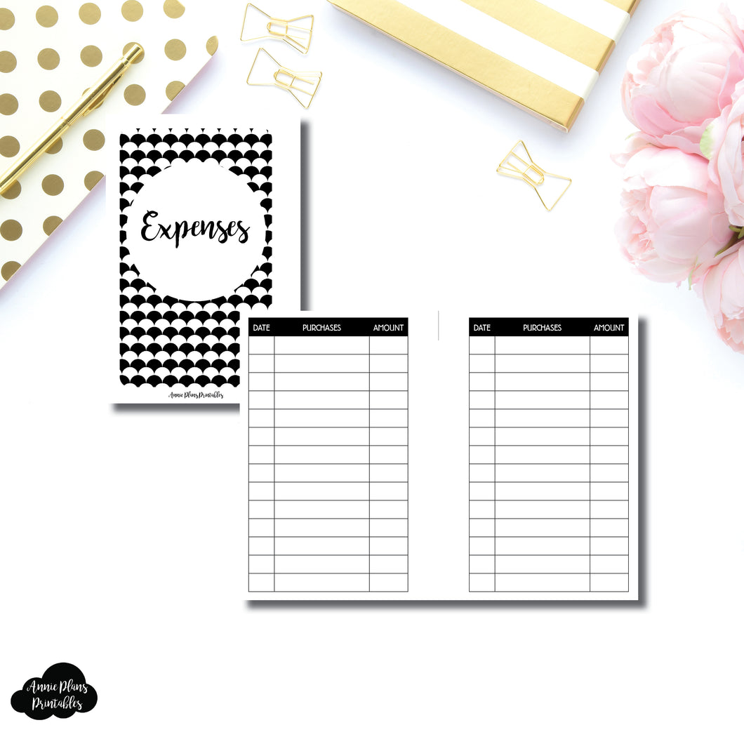 Pocket Rings Size | Basic Expense Tracker Printable Insert ©