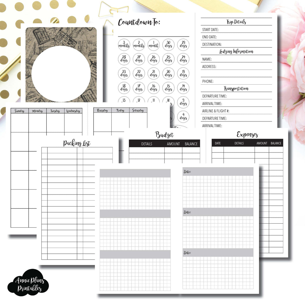 vacation planning printable