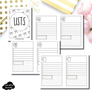 MICRO TN SIZE | Single Column Lists Printable Insert ©