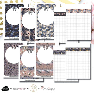 Pocket Rings Size | Blank Covers + Undated Grid Collaboration Printable Insert ©