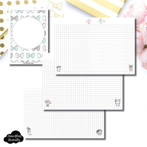 A6 Rings Size | theCoffeeMonsterzco & Sparkly Paper Co Collab Grid Printable Insert ©