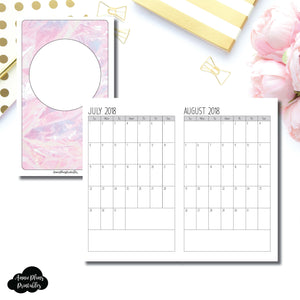 B6 Slim TN Size | 18 Month (July 2018 - December 2019) SINGLE PAGE (SIMPLE FONT) Monthly Printable Insert ©