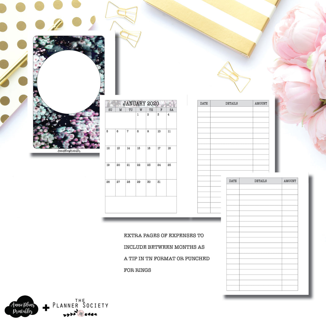 A6 Rings Size | LIMITED EDITION: NOV TPS Dated Monthly Expense Collaboration Printable Insert ©