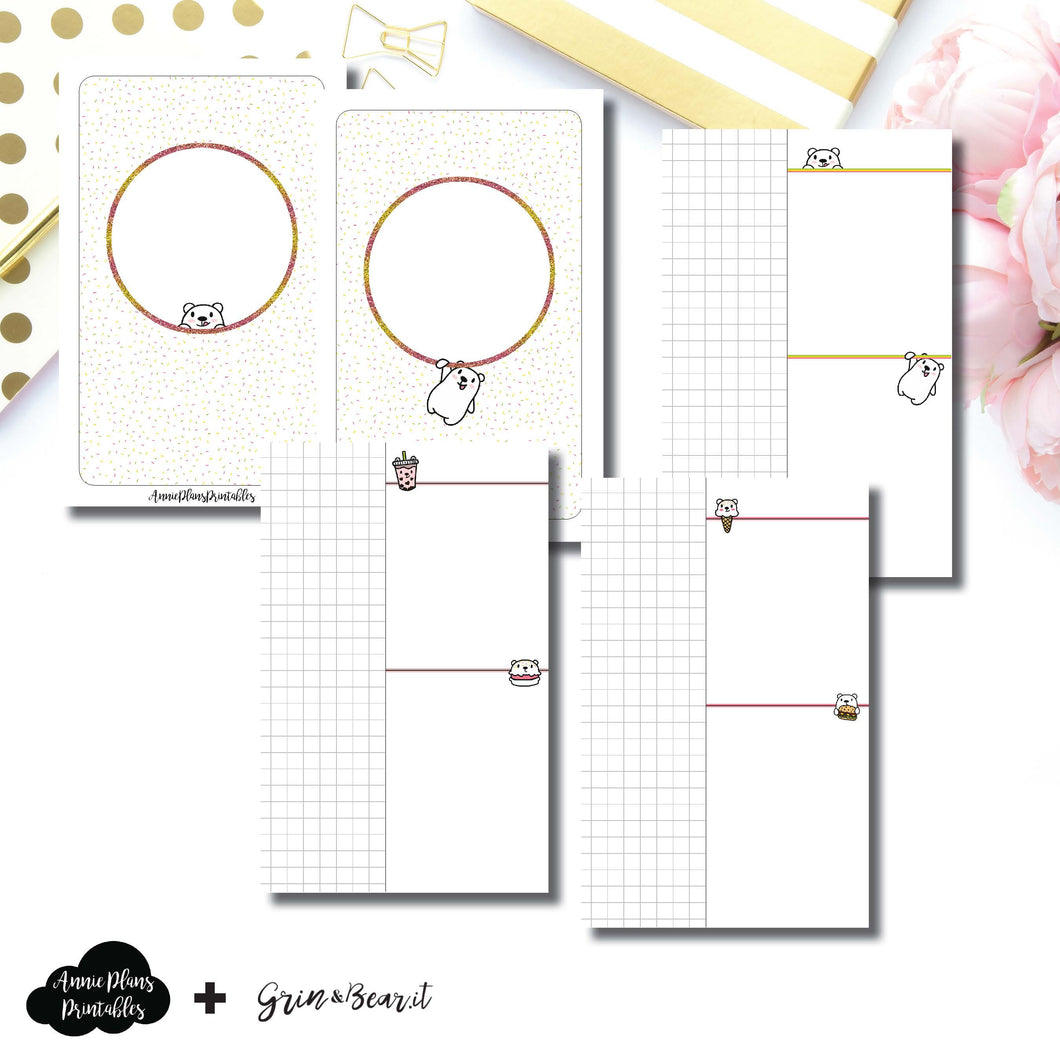 Pocket TN Size | Grin & Bear It Collaboration Grid Column Printable Insert ©