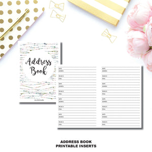 a6 tn size address book printable insert annieplansprintables